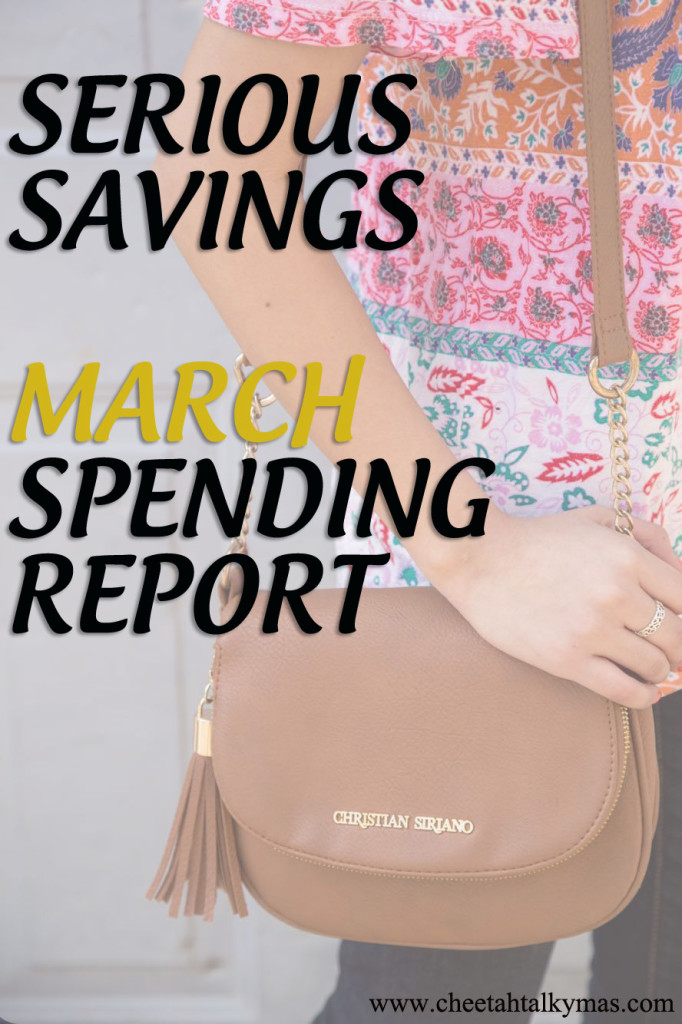 March spending report